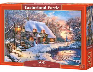 Puzzle 500 dílků - Chatička v zimě