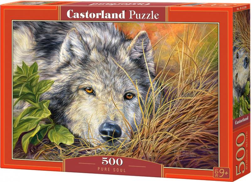 Puzzle Castorland 500 dílků - Čistá duše (vlk)