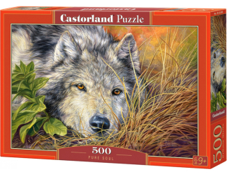 Puzzle 500 dílků - Čistá duše (vlk)
