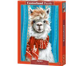 Puzzle Castorland 500 dílků - Lama s červenou šálou