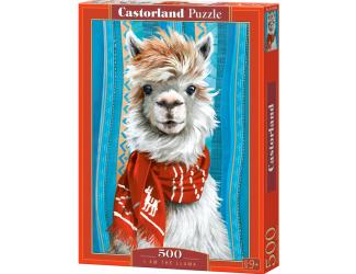 Puzzle 500 dílků - Lama s červenou šálou