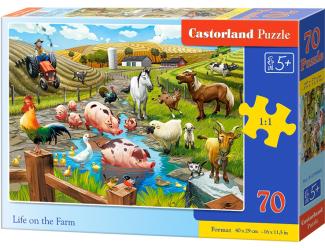 Puzzle 70 dílků premium - Život na farmě