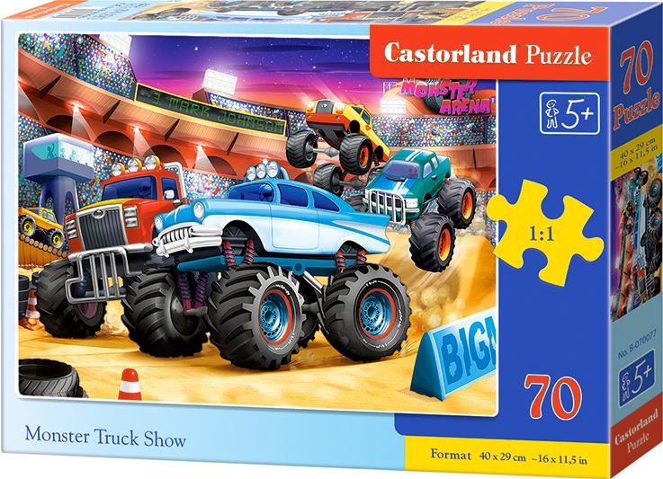 Puzzle Castorland 70 dílků premium - Monster truck show