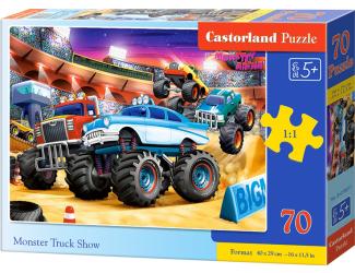 Puzzle 70 dílků premium - Monster truck show