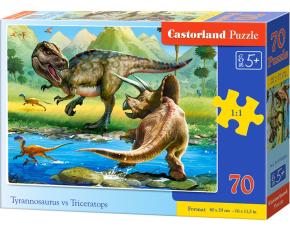Puzzle Castorland 70 dílků premium - T-rex vs. Triceratops