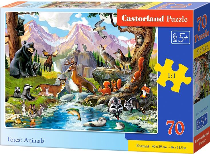 Puzzle Castorland 70 dílků premium - Lesní zvěř