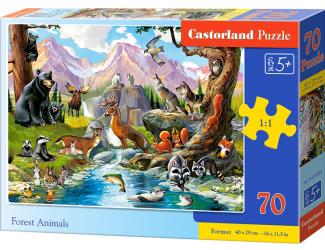 Puzzle 70 dílků premium - Lesní zvěř
