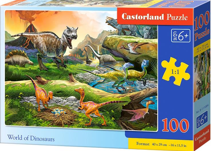 Puzzle Castorland 100 dílků premium - Dinosauří svět