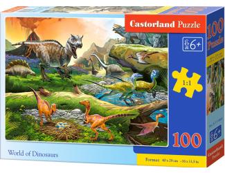 Puzzle 100 dílků premium - Dinosauří svět