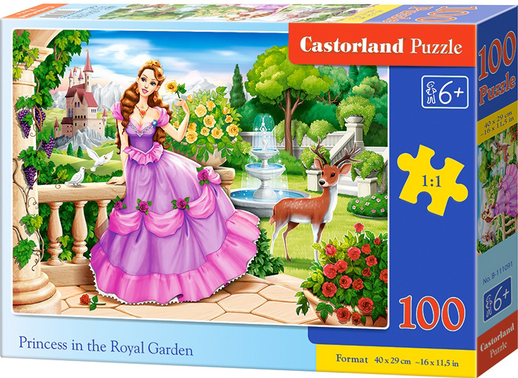 Puzzle Castorland 100 dílků premium - Princezna v královské zahradě