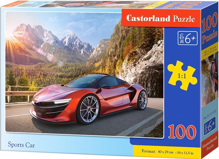 Puzzle Castorland 100 dílků premium - Červený sporťák