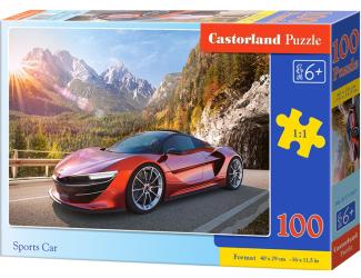 Puzzle 100 dílků premium - Červený sporťák