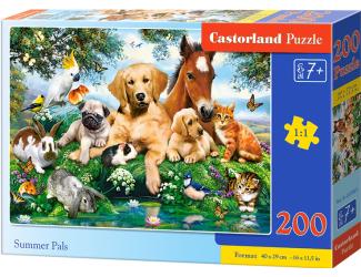 Puzzle 200 dílků premium - Zvířecí parta