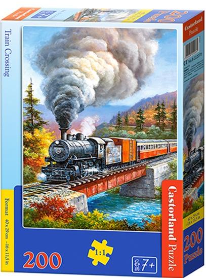 Puzzle Castorland 200 dílků premium - Vlak přejíždějící řeku