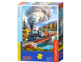 Puzzle 200 dílků premium - Vlak přejíždějící řeku