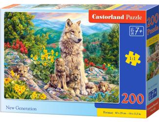 Puzzle 200 dílků premium - Nová generace vlků