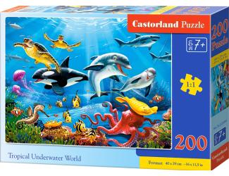 Puzzle 200 dílků premium - Tropický podvodný svět