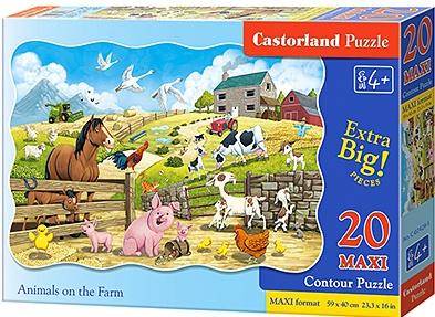 Puzzle Castorland MAXI 20 dílků - Zvířátka na farmě