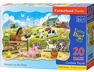 Puzzle maxi 20 dílků- Zvířátka na farmě