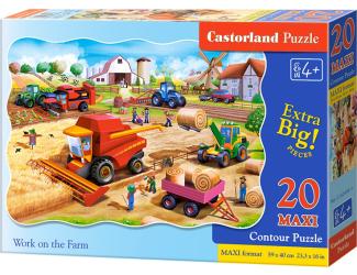 Puzzle maxi 20 dílků - Práce na farmě