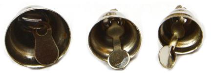 Stříbrné zvonečky, 30 ks, 8, 10, 12 mm