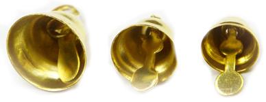 Zlaté zvonečky, 30 ks, 8, 10, 12 mm