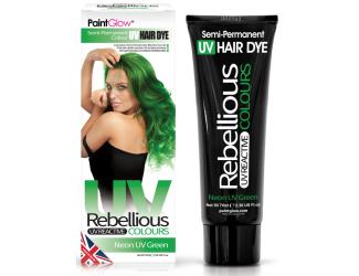 """Barva na vlasy Semi-Pernament UV - zelená 70 ml """"Neon UV Green"""""""