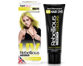"Barva na vlasy Semi-Pernament UV žlutá - 70 ml ""Neon UV Yellow"""