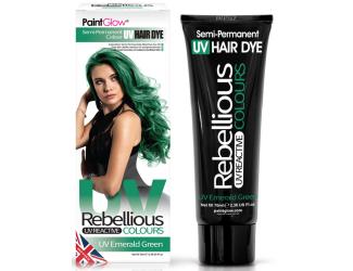 "Barva na vlasy Semi-Pernament UV - smaragdově zelená 70 ml ""UV Emerald Green"""