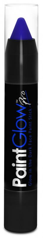Tužky na obličej svítící ve tmě 3,5 g - modrá (Blue)