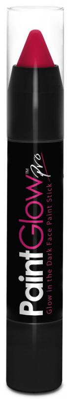 Tužky na obličej svítící ve tmě 3,5 g - růžová (Pink)