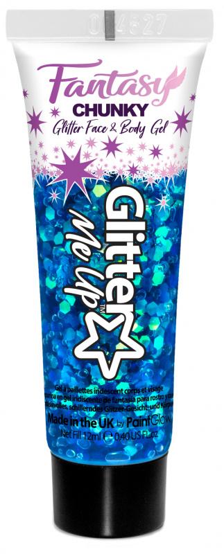 "PaintGlow Glitrový gel ""Fantasy Chunky"" modrý (Mermazing)"