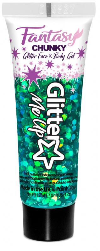 "PaintGlow Glitrový gel ""Fantasy Chunky"" zelená (Leprechaun Luck)"