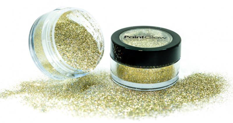 Třpytky holografické 3g - zlaté (gold)