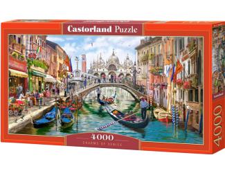 Puzzle Castorland 4000 dílků - Kouzla Benátek