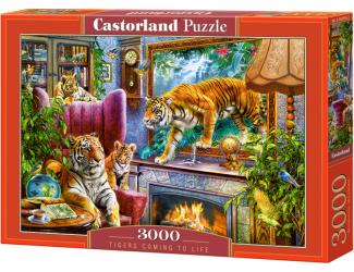 Puzzle 3000 dílků - Tygři ožívají