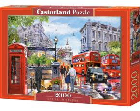 Puzzle Castorland 2000 dílků - Jaro v Londýně