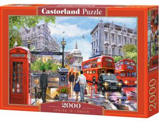 Puzzle Castorland 2000 dílků- Jaro v Londýně