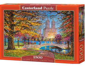 Puzzle Castorland 1500 dílků - Podzimní procházka po Centrál Parku