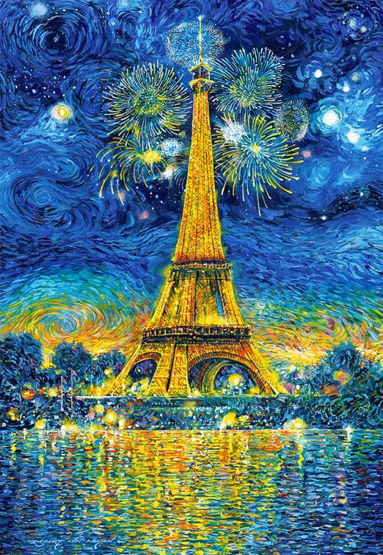 Puzzle Castorland 1500 dílků - Malovaná Paříž