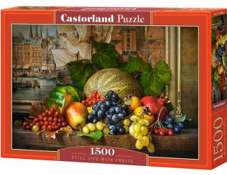 Puzzle 1500 dílků -  Zátiší s ovocem