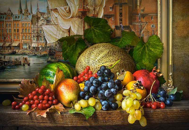 Puzzle Castorland 1500 dílků - Zátiší s ovocem