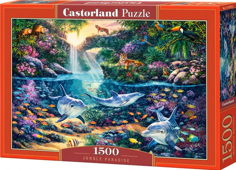 Puzzle Castorland 1500 dílků - Ráj uprostřed džungle
