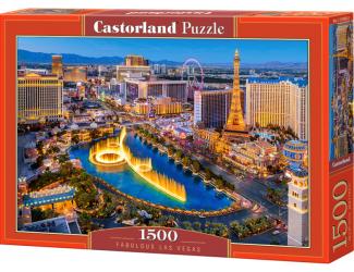 Puzzle 1500 dílků -  Báječné Las Vegas