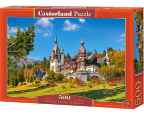 Puzzle Castorland 500 dílků - Hrad Peles, Rumunsko