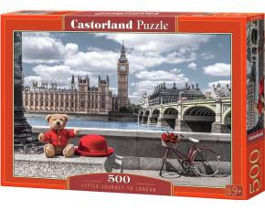 Puzzle Castorland 500 dílků - Výlet po Londýně (medvěd v červeném)