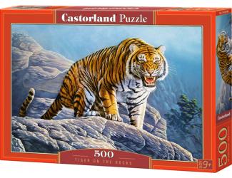 Puzzle 500 dílků - Tygr na skále