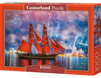 Puzzle 1000 dílků - Červená fregata