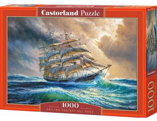 Puzzle 1000 dílků - Plachetnice na moři