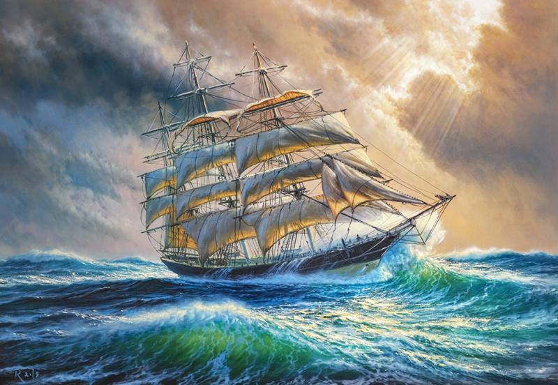 Puzzle Castorland 1000 dílků - Plachetnice na moři